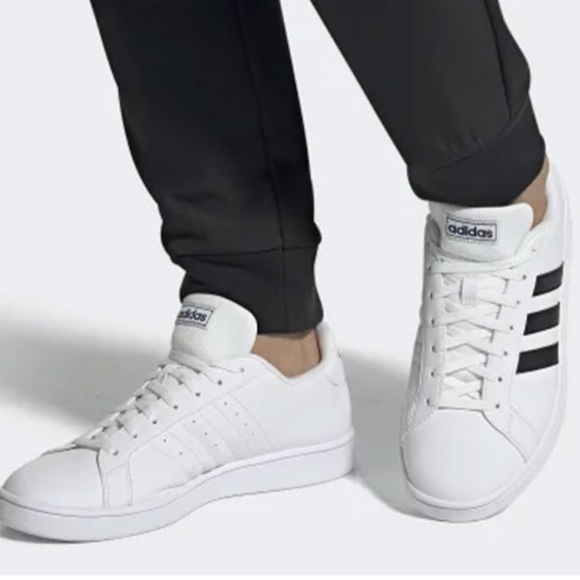Adidas Men Grand-Court Base Shoes White Sneakers